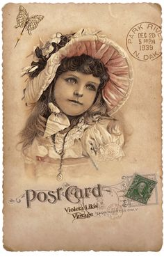 Collage of vintage postcard and markings Clip Art Vintage, Éphémères Vintage, Images Vintage, Vintage Labels, Vintage Ephemera, Vintage Pictures, Vintage Cards, Vintage Prints, Image Paper