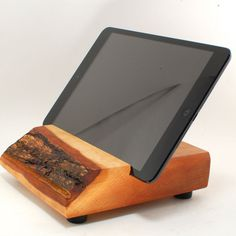 Wood iPad MINI Stand from Block & Sons Co by BlockandSonsCo, $95.00 TOO CUTE!  I would like to make this.  :)