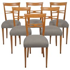 Vintage Italian Set Of Six Dining Chairs