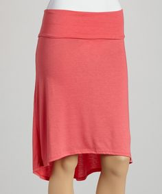 Take a look at this Coral Hi-Low Skirt on zulily today!