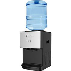 Avalon Premium Hot/Cold Top Loading Countertop Water Cooler with Child Safety Lock, Grays Water Spout, Water Faucet, Steel Water Tanks, Blue Led Lights, Water Filtration System, Water Coolers, Child Safety Locks, Drip Tray, Bottle Sizes