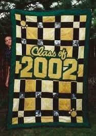 Tab's Graduation Quilt | Favorite Places & Spaces | Pinterest : graduation quilt ideas - Adamdwight.com