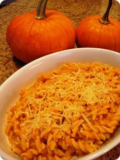 pasta with creamy pumpkin sauce- simple ingredients