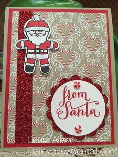 I made this with my new Stampin Up stamp set Cookie Cutter Christmas!