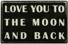 10X6 - 13€ To The Moon Box Sign Cartel de madera en AllPosters.es