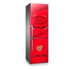 "Mod. ""LoveYou"" Original diseño para frigorífico. Vinilo adhesivo de fácil colocación. Decoración de frigorífico/nevera."