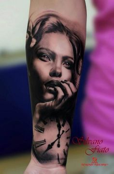 #Tattoo realistic tattoo portrait