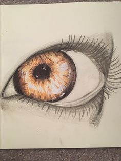 A sideways eye colored pencil drawing by Jade .. Hope you like it!