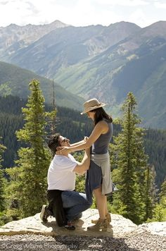 My incredible proposal! Top of Aspen mountain!