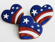 All the cookie decorating tutorials, tips, recipes and color help you need to make easy and fun decorated sugar cookies! Patriotic Crafts, Patriotic Decorations, July Crafts, Patriotic Cupcakes, Holiday Crafts, Rock Painting Ideas Easy, Rock Painting Designs, Rock Crafts, Arts And Crafts