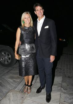 royalwatcher: Marie-Chantal and Crown Prince Pavlos at the wedding anniversary celebration for King Constantine II of Greece and Queen Anne-Marie, September 2014