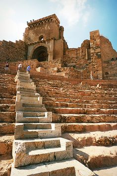 Teatro Romano (Cartagena, España) / The Roman Theatre (Cartagena, Spain)… Places Around The World, The Places Youll Go, Places To See, Around The Worlds, Ancient Ruins, Ancient Rome, Ancient History, Cartagena Spain, Roman Theatre