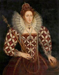 QUEEN ELIZABETH I, 1533-1603, by Federico Zuccaro
