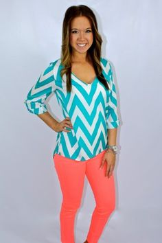 This website has tons of chevron print clothing!