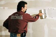 Has your drywall ceiling developed an ugly crack? Learn how to repair a cracked drywall ceiling with this helpful video from the experts at This Old House. Drywall Tape, Drywall Ceiling, Drywall Mud, Drywall Repair, Hanging Drywall, Drywall Finishing, Gypse, Drywall Installation, Man Cave Home Bar