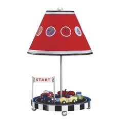 Shop for Guidecraft Retro Racers Lamp. Get free delivery On EVERYTHING* Overstock - Your Online Kids Lighting Store! Race Car Room, Childrens Lamps, Kids Lamps, Table Lamps For Bedroom, Nursery Lamps, Car Nursery, Playroom Furniture, Playroom Ideas, Kids Furniture