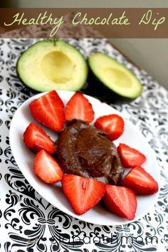 Just tried it -- Can't even taste the avocado!! Vegan Chocolate Avocado Fruit Dip Recipe