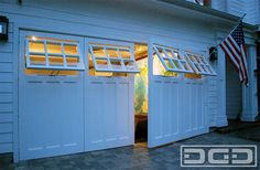 Coastal Custom Garage Door Conversion - Carriage Doors for Home Offices & Gyms - craftsman - Garage Doors - Orange County - Dynamic Garage D...