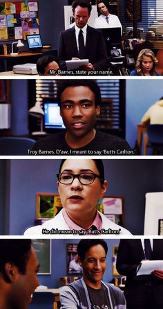"""I meant to say Butts Carlton."""