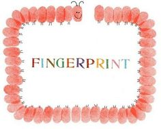 tons of ideas for fingerprint art