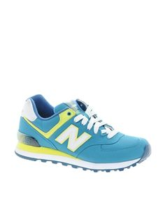 New Balance 574 Turquoise Trainers