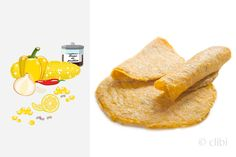 Thecorn and fresh peppers tortillasis a thin wrap only vegetables without flour and consequentlygluten-free and dairy-free egg-free, can be used to wrap or accompany other foods.