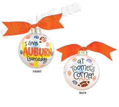 Auburn University Tiger Gameday Christmas Ornament - I Love Auburn Gameday at Toomer's Corner!