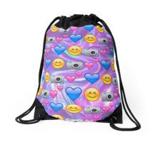 emoji print Drawstring Bag