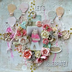 My first Dt layout for Scrap Around The World, using Princess papers from Prima and other Prima products.