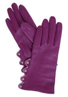 Girls and Boysenberry Gloves. If your hands could sigh with happiness, they would certainly do so when  you don these adorably astonishing gloves.  #modcloth