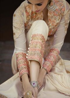 Beautiful Fancy Dresses from all brands Collections you can save the ideas and variations in designs and colors for girls Pakistani Couture, Pakistani Outfits, Indian Outfits, Pakistani Clothing, Indian Attire, Indian Wear, Desi Clothes, Indian Clothes, Pakistan Fashion