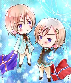 Tags: Anime, Flag, Axis Powers: Hetalia, Norway, Iceland, Nordic Countries, Country Flag