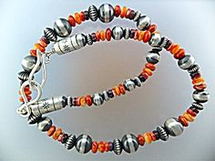 Necklace Sterling Silver Spiny Oyster American Indian (Image1)