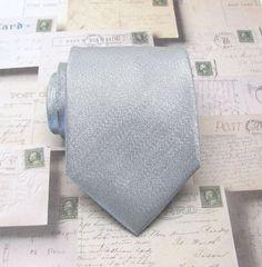 Mens Ties. Necktie Lamé Silver Metallic Tie with by TieObsessed