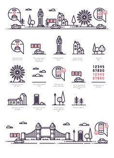 jpg by Bogdan Roșu Pub Design, Icon Design, Flat Illustration, Graphic Design Illustration, Cartoon House, Travel Icon, Home Icon, Doodle Patterns, Art Icon