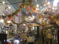 What a crazy room -  would love to walk through this shop!