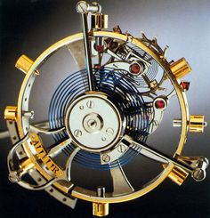 One of the most exotic components of the clock mechanism of a pocket watch is the tourbillon.  It was specifically designed to cancel the effect of gravity while mechanically keeping time.