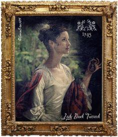Galería de retratos de Lallybroch. Lady Broch Tuarach en la corte Jacobita. Lallypaintings gallery. Lady Broch Tuarach at the Jacobite Court. @CovaBroch14 para Outlander gu Bràth.