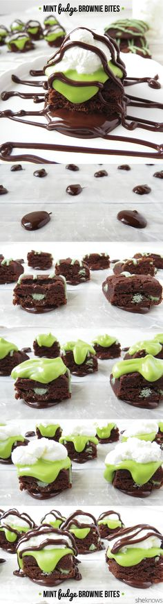 An easy way to make any chocolate lover smile! Mint Fudge Brownie Bites!