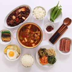 Asian Recipes, Real Food Recipes, Yummy Food, Healthy Recipes, K Food, Food Porn, Korean Traditional Food, Food Platters, Breakfast Lunch Dinner