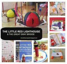 Learning with Five in a Row-- math, language arts, social studies, art, and science activities for The Little Red LIghthouse and the the Great Gray Bridge. Science Activities, Activities For Kids, Little Red Lighthouse, Lighthouse Books, Five In A Row, Under The Sea Theme, Early Literacy, Book Themes, Beach Themes