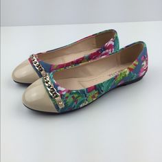 Nude| Floral Flats Brand new, Nude floral flats. Size 6. ALL MAN MADE MATERIALSNO TRADES ▪️PRICE IS FIRM▪️ Shoes Flats & Loafers