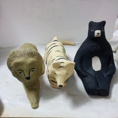 Lions and tigers and bears ;-)#ceramics | WEBSTA - Instagram Analytics