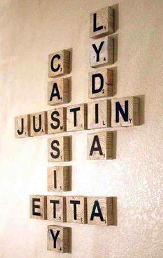 Scrabble Wall Decor