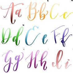 Calligraphy Doodles, Calligraphy Tutorial, Calligraphy Practice, Calligraphy Handwriting, Calligraphy Alphabet, Hand Lettering Alphabet, Brush Lettering, Letter Art, Study Tips