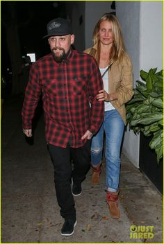 Cameron Diaz wearing the Baja Boot while out in LA with husband Benji Madden