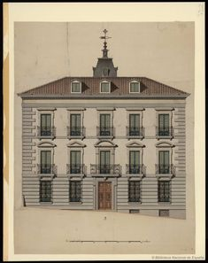 [Casa-palacio]. Anónimo español s. XVIII-XIX — Dibujo — 1785