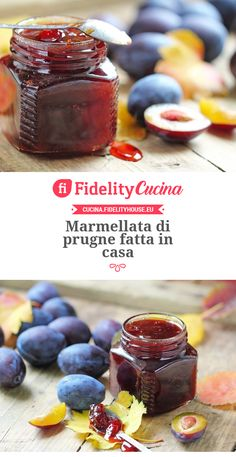 Marmellata di prugne fatta in casa Ricotta, Beautiful Fruits, Jam And Jelly, Chutney, Let Them Eat Cake, Italian Recipes, Food And Drink, Homemade, Cooking