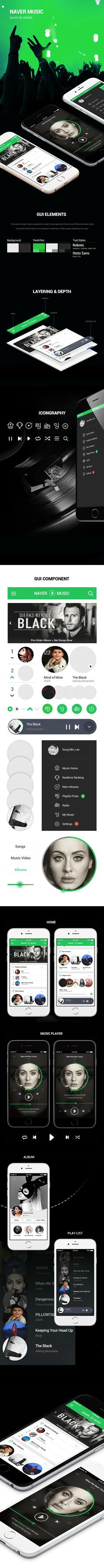 Lee Sung Min |  Naver Music Redesign Concept | Visual Interface Design(2) 2016 | Major in Digital Media Design │#hicoda │hicoda.hongik.ac.kr
