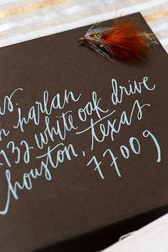 Jaclyn + Brent's Tropical Destination Wedding Invitations | Design: Papellerie | Calligraphy: Brown Linen Design | Photo Credits: Adam Nyholt